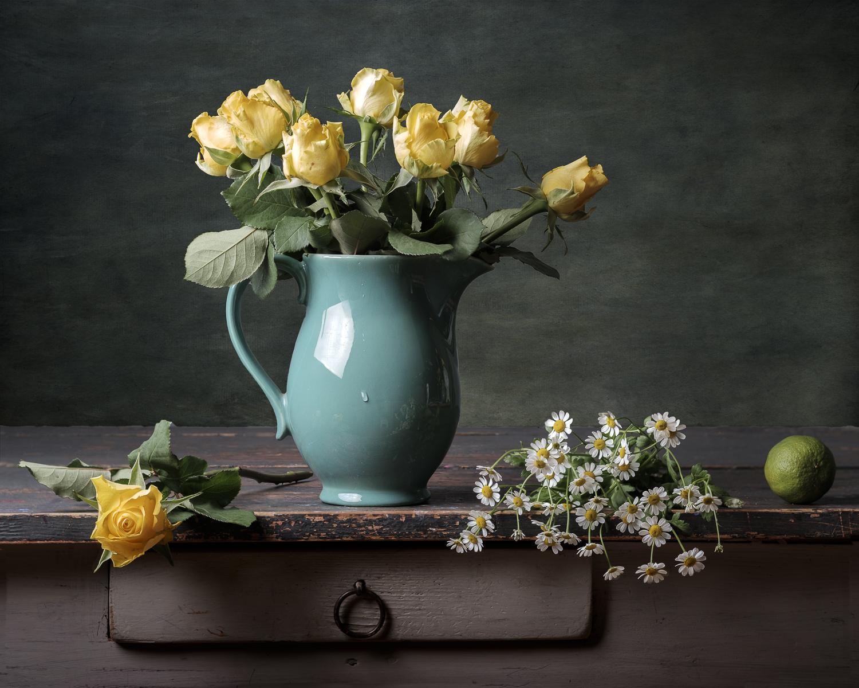 Fine art gele rozen